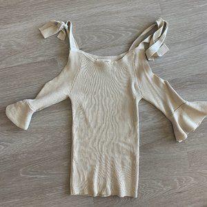 Ribbed Quareter Sleeve top